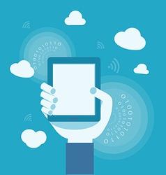 Business concept of internet cloud vector