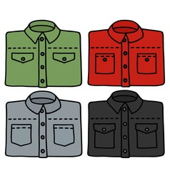 Color shirts vector