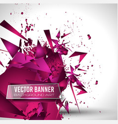 Abstract background with shapes explosion for vector