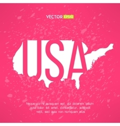 Usa map in flat red design american border vector