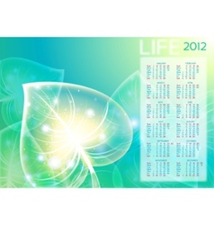 abstraction leaf background 10 eps calendar 2012 vector image