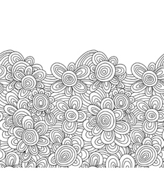 Floral monochrome pattern for easy making vector