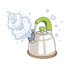 Kettle boil vector image