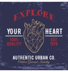 Explore your heartprint for shirts vector