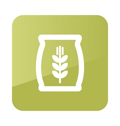 Sack of grain icon farm vector