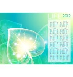 abstraction leaf background 10 eps calendar 2012 vector image