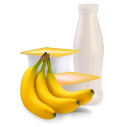 Banana flavor vector