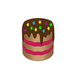 chokolate cake vector image