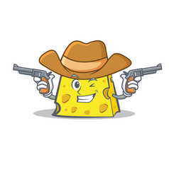 Cowboy cheese character cartoon style vector