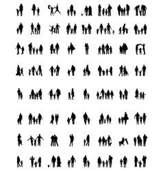 families in walking vector image