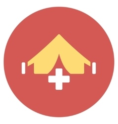 Filed hospital flat round icon vector