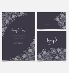 floral greeting cards vector image vector image