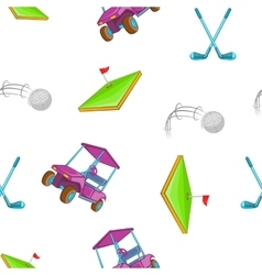 Golf pattern cartoon style vector image