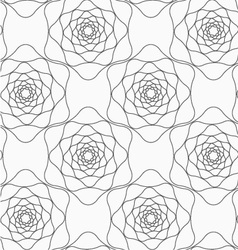 Gray abstract roses vector
