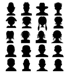 heads vector image vector image