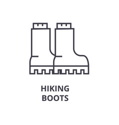 hiking boots line icon outline sign linear vector image vector image