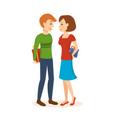 Man and woman give each other gifts vector