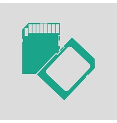 Memory card icon vector