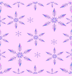 pattern - snowflakes falling vector image vector image