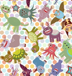 Polka dot background seamless pattern funny cute vector