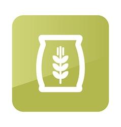 Sack of grain icon farm vector