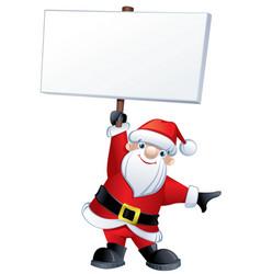 santa claus holding a banner vector image vector image