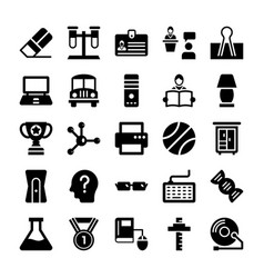 School and education icons 12 vector