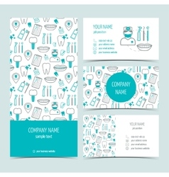 Set of flyer brochure and business cards for vector image vector image