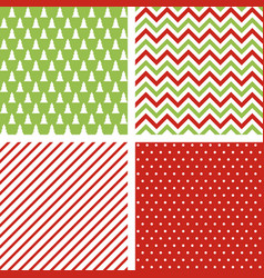 set of seamless abstract christmas patterns vector image vector image