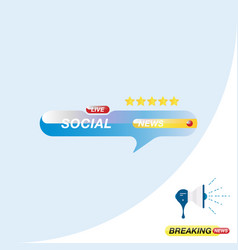 Social news icon for journalism of news tv vector