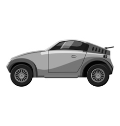 Sport car icon gray monochrome style vector