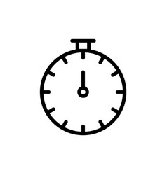 thin line stopwatch icon vector image vector image