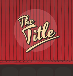 Title live stage red curtain vector