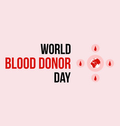 World blood donor day banner style collection vector