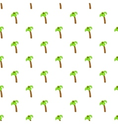 Palm tree with coconuts pattern cartoon style vector