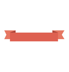 red ribbon icon vector image