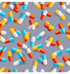Pills seamless pattern vector
