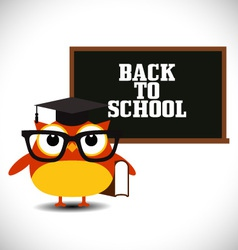 Owl with blackboard vector