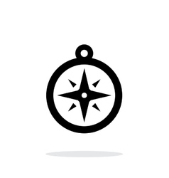 Compass icon navigation icon on white background vector