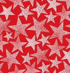 Red stars seamless pattern repeating background vector
