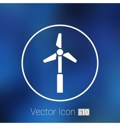 Icon tower electric floor generator vector