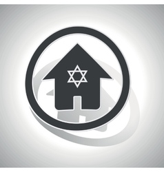 Jewish house sign sticker curved vector