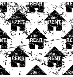 Rental house pattern grunge monochrome vector