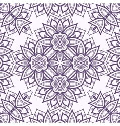 Seamless pattern imitating floral lace vector