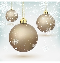 Christmas tree decorations vector
