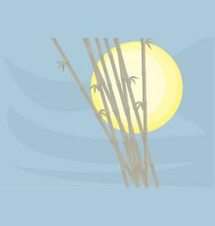 Sun bamboo vector