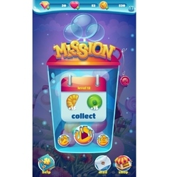 Sweet world mobile gui mission collect window vector