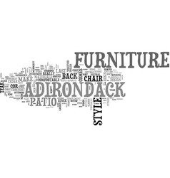 Adirondack furniture good for any patio dcor text vector