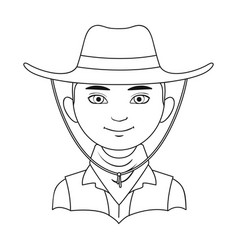 Amnricanianhuman race single icon in outline vector