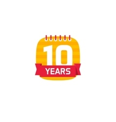 Anniversary 10 calendar logo 10th years icon vector